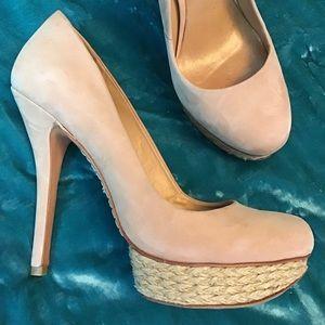SCHUTZ platform stiletto heels jute wrap 7 7.5